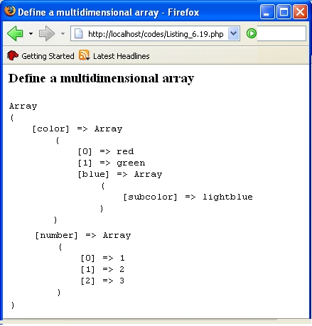 for array php